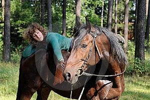 Girl On Horseback Royalty Free Stock Photography - Image: 21267197
