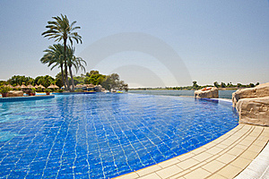 Infinity Swimming Pool At A Hotel Stock Images - Image: 21268124