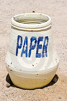 Paper Bin Royalty Free Stock Images - Image: 21268139