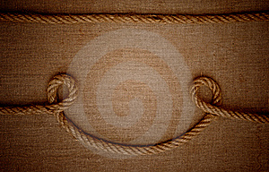 Ropes With A Canvas Of Burlap Stock Photos - Image: 21268263