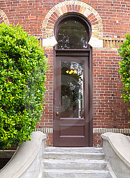 HDR Arched Doorway In A Brick Wall Stock Photo - Image: 21268320