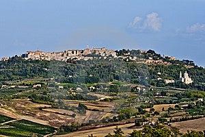 Tuscan Village Montepulciano Stock Images - Image: 21270104