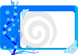 Winter Business Card Royalty Free Stock Photography - Image: 21270707