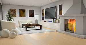 Fireplace Room Royalty Free Stock Images - Image: 21273729