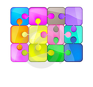 Colorful Puzzles Royalty Free Stock Photos - Image: 21275278