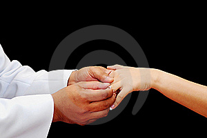 Wedding Ring for Her Stock Images