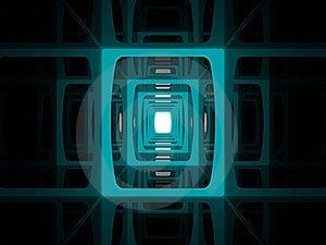 Futuristic Corridor Perspective Royalty Free Stock Photos - Image: 21282298