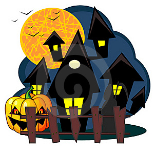 Scary House Of Halloween Royalty Free Stock Image - Image: 21286496