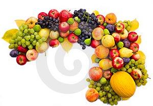 Fresh Fruit On White Background Stock Photography - Image: 21292112