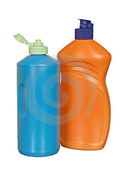 Plastic Bottle With Cleanser Royalty Free Stock Photos - Image: 21292148