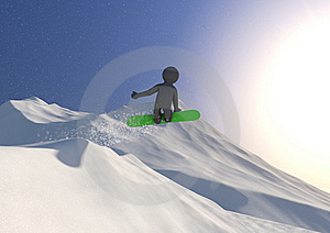 Snowboard Jump Stock Images - Image: 21294704