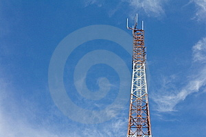Antennas Transmit And Receive Signals. Royalty Free Stock Photos - Image: 21295128