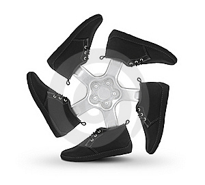 Shoes Wheel Royalty Free Stock Photography - Image: 21298727