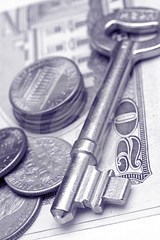 Key and money Stock Images