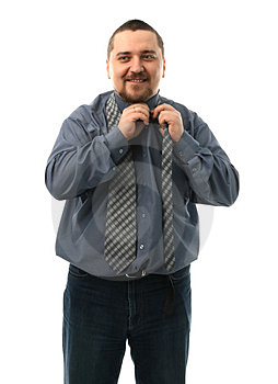 Man with a tie Royalty Free Stock Images