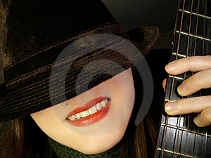 Hat&guitar#1 Stock Photo - Image: 2136020
