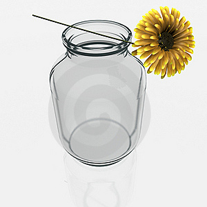 Jar With A Gerber Flower Royalty Free Stock Photography - Image: 21302867