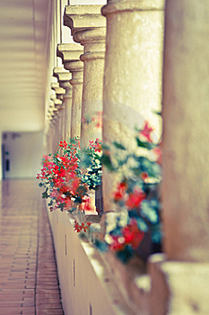 Castle Hallway With Columns Royalty Free Stock Images - Image: 21304099