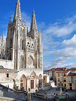 Burgos Cathedral, Spain Stock Photos - Image: 21304903