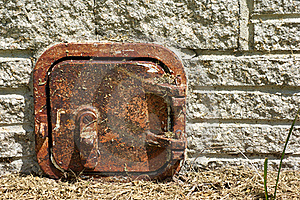 Old Rusted Metal Door Royalty Free Stock Photo - Image: 21308255