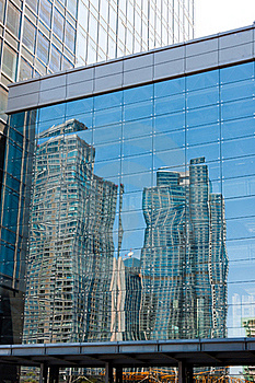 Modern Building Reflection Stock Photo - Image: 21308450