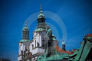 Jan Hus Statue In Prague Stock Photo - Image: 21311330