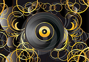 Vinyl Record Abstract Background Royalty Free Stock Photos - Image: 21314638