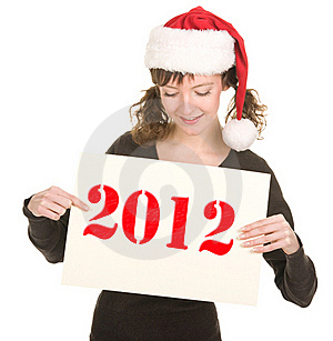 Young Girl In Santa Hat Royalty Free Stock Photography - Image: 21317187