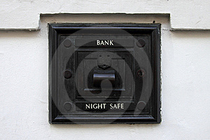 Night Bank Deposit Safe Stock Images - Image: 21318394