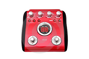 Guitar Multi Effects Pedal Stock Image - Image: 21319721