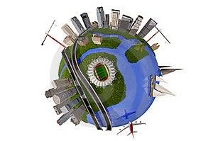 Model Of The Globe Stock Photo - Image: 21319840