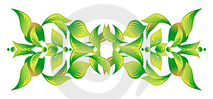 Element Of An Ornament With Green Foliage 2 Stock Photography - Image: 21322752