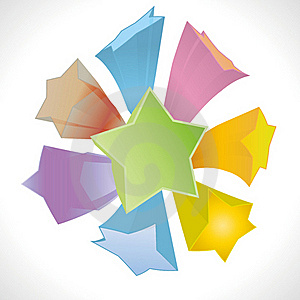 Vector Abstract Star Cover Background Royalty Free Stock Photography - Image: 21327157