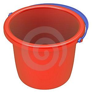 Empty Red Bucket . Stock Photos - Image: 21327453