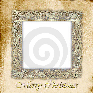 Old Empty Photo Frame For Christmas Royalty Free Stock Photography - Image: 21328787