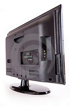 LCD T.V. Rear Royalty Free Stock Image - Image: 21333416