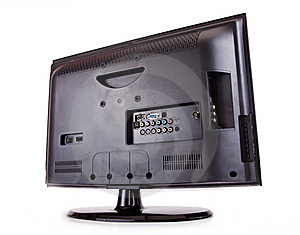 LCD T.V. Rear Royalty Free Stock Images - Image: 21333459