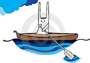 Hare Sailing Canoe Royalty Free Stock Photo - Image: 21333595