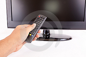 LCD T.V. Remote Stock Photos - Image: 21333703