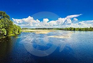 Island On Blue Cold Lake Stock Images - Image: 21337794