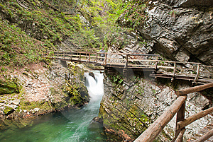 The Gorge Of Vintgar Stock Image - Image: 21338151