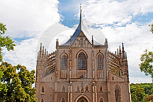 Cathedral In Kutna Hora Stock Photos - Image: 21339473