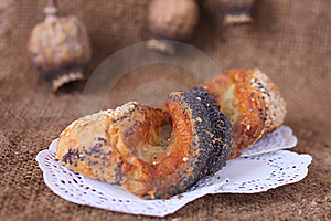 Sweet Poppy Buns Old Sack Art Background Stock Photo - Image: 21339590