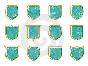 Grunge Shields 2 Stock Photos - Image: 21339683