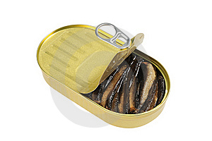 Opened Metal Can  With  Fish Royalty Free Stock Photo - Image: 21339725