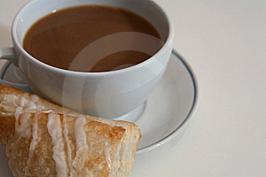 Coffee And Pastry On White Royalty Free Stock Photos - Image: 21341148