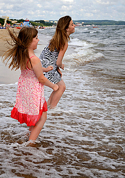 Jump Over The Wave Stock Images - Image: 21343394