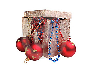 Box And Decorations Royalty Free Stock Images - Image: 21346869