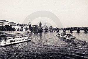 Prague - Charles Bridge Royalty Free Stock Image - Image: 21353116