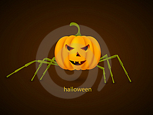 Pumpkin Spider Stock Photo - Image: 21354280